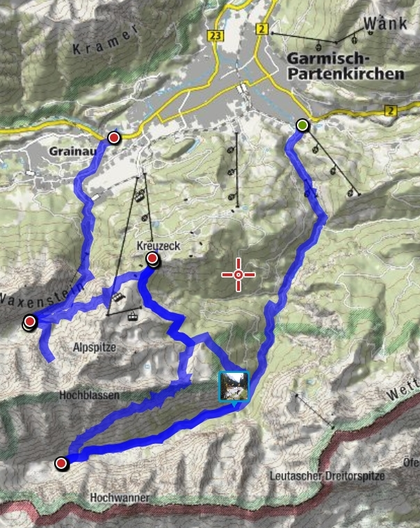 20191003 Garmisch Übersichtskarte